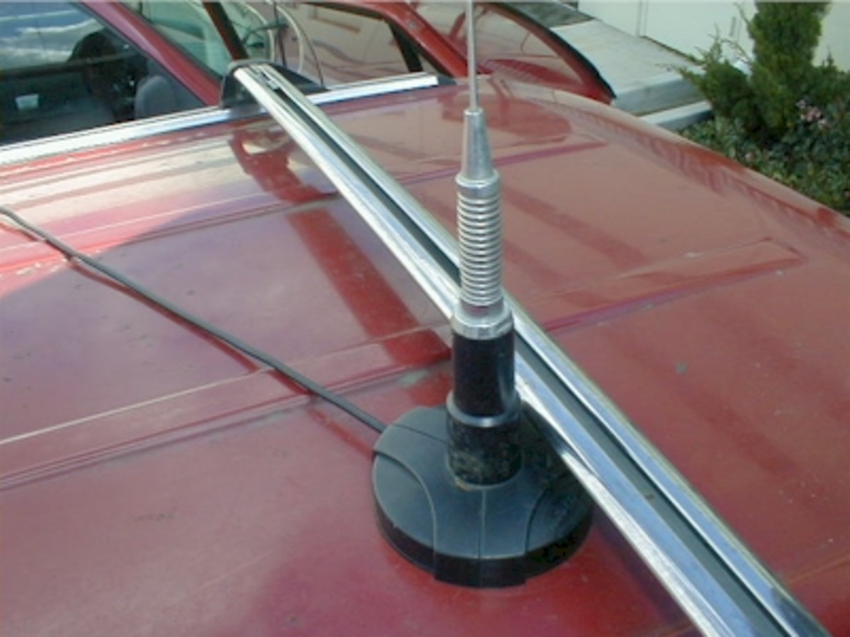 Example of a magnetic mounted antenna