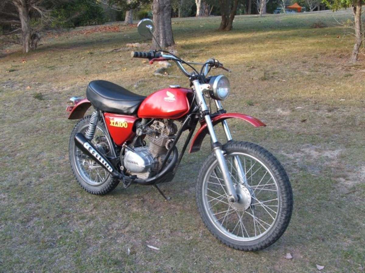 XL 100 Honda after some TLC