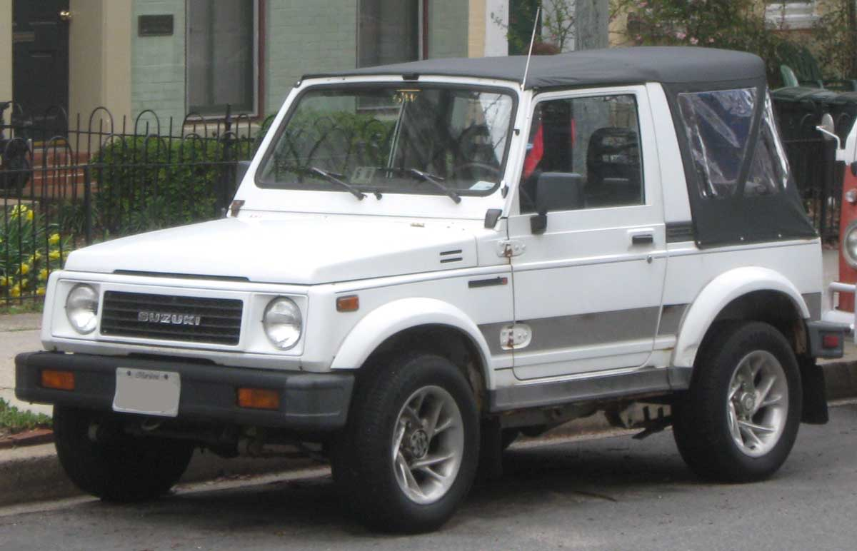 Suzuki Samurais are smaller than most of the other vehicles on this list but tend to get better gas mileage.