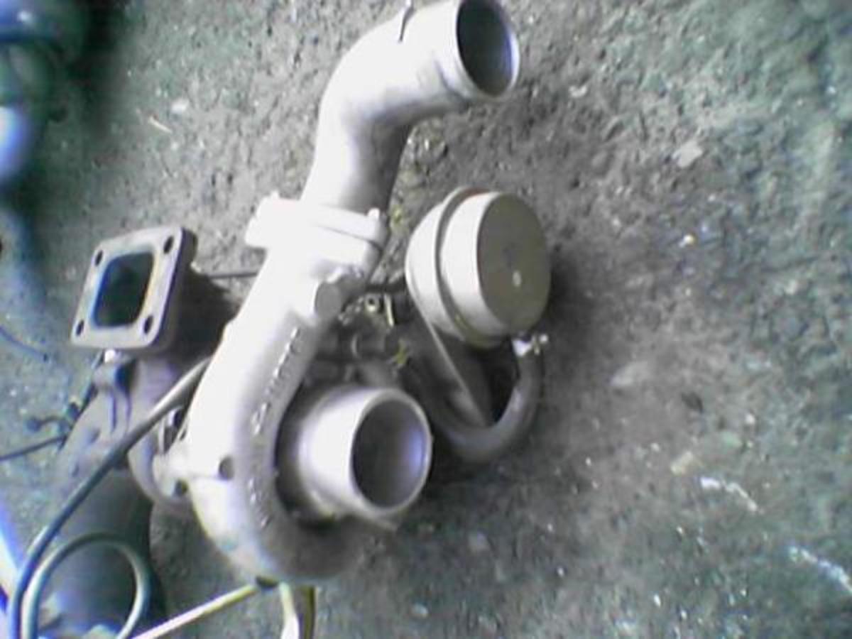 The stock RB20DET ceramic turbo