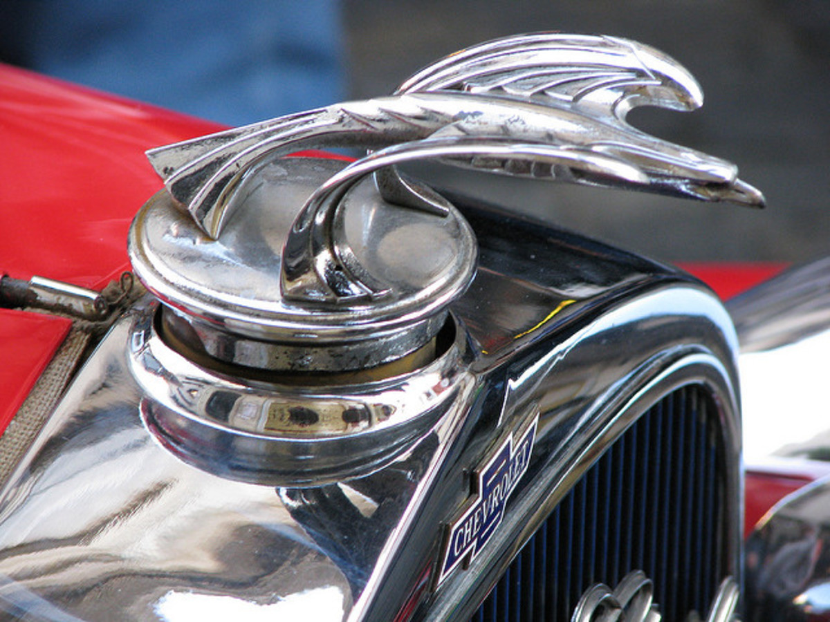 Eagle Motif Atop A Late 1920s Chevrolet Radiator Cap