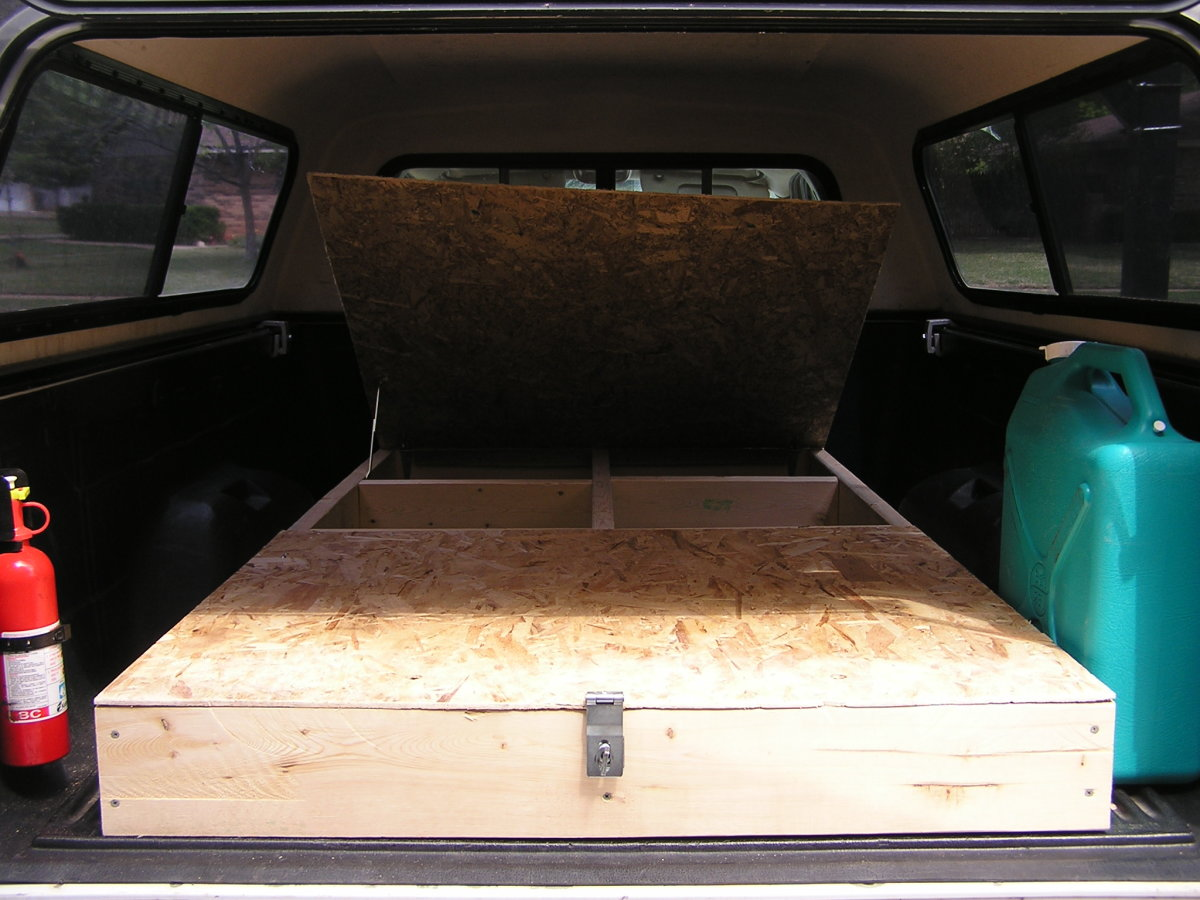 Homemade Truck Bed Storage And Sleeping Platform for ...