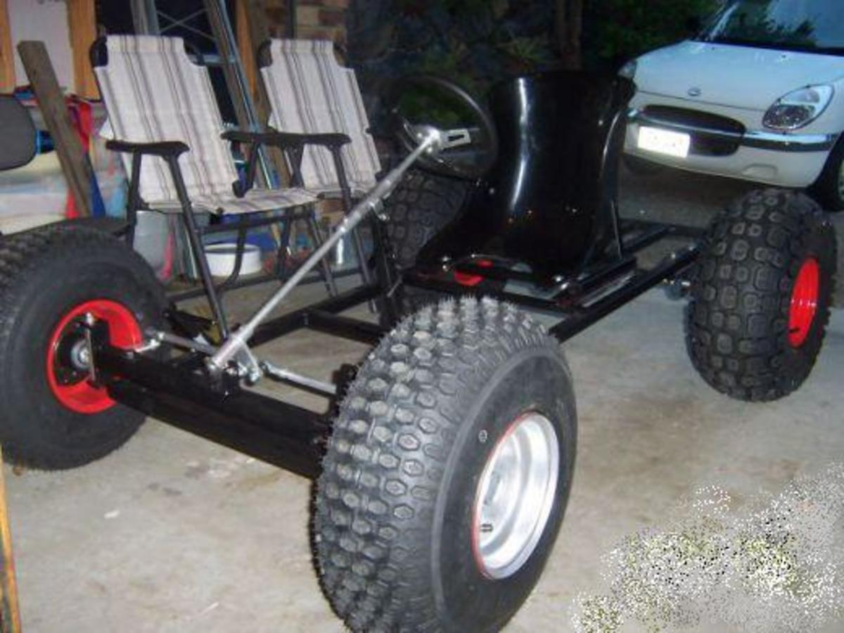 Large ATV wheels are essential for off-road buggies lacking suspension.