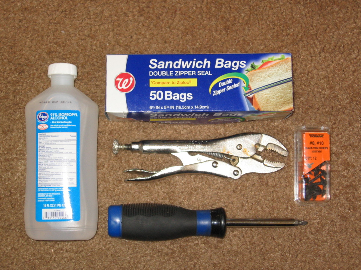 Tools you'll need to remove and clean a mass airflow (MAF) sensor.