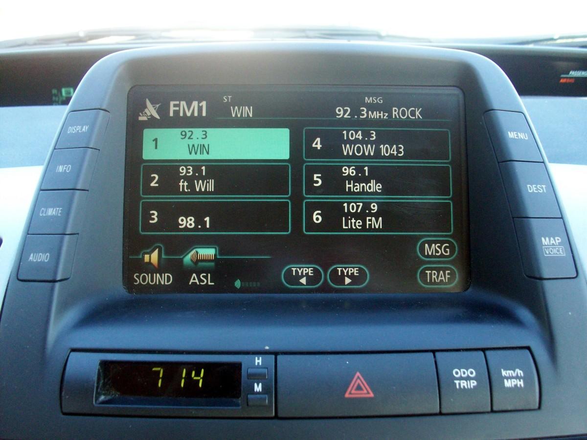 Audio controls, via softkeys