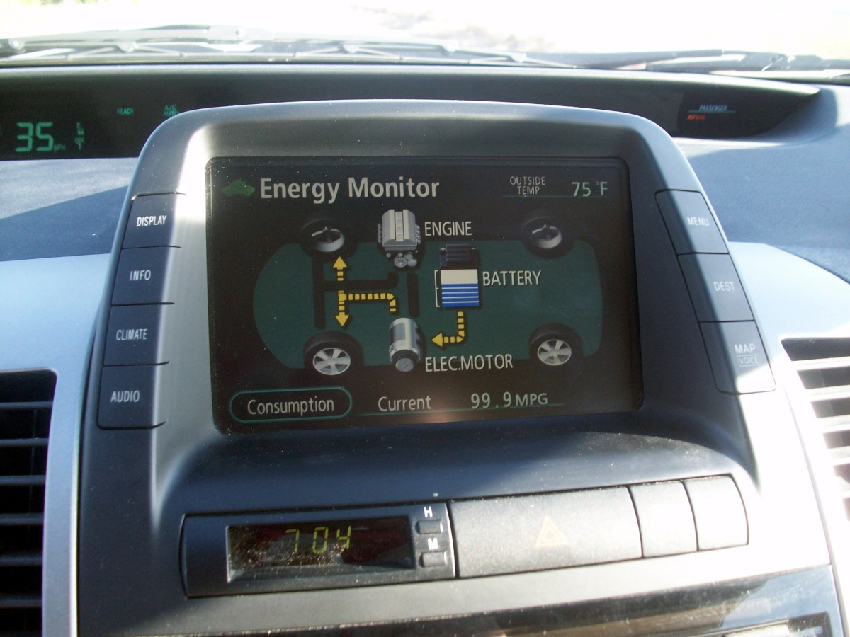 engine off, running on battery, 99 mpg
