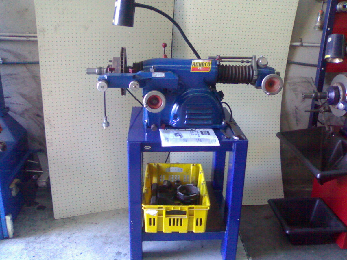 A good used Ammco 4000 will cut discs and drum brakes for many years without trouble.