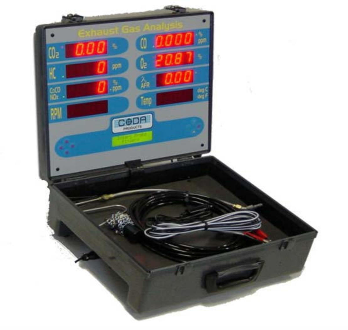 This is a modern portable 5 gas analyzer.
