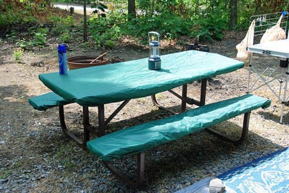 Picnic tables are one of the most frequently used pieces of equipment.