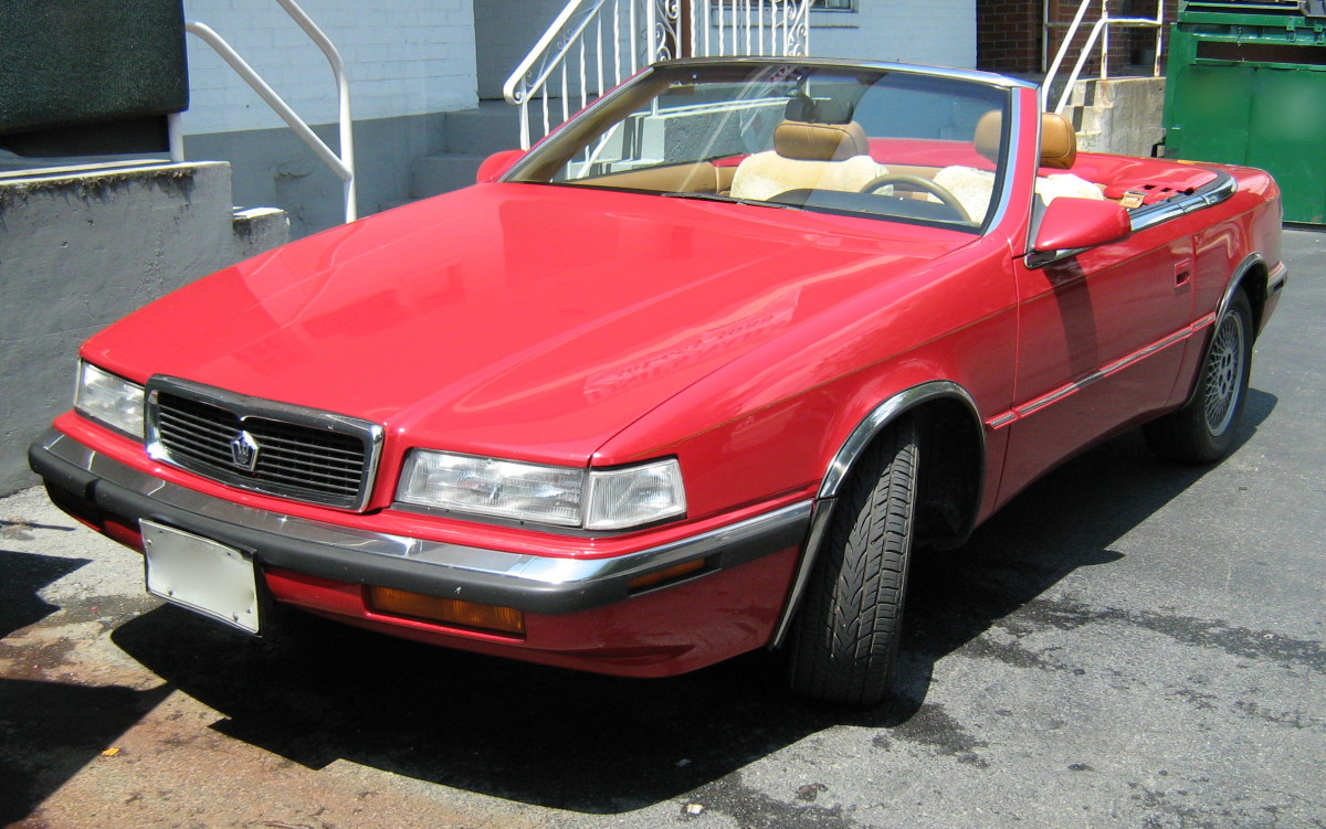 Chrysler's TC by Maserati, essentially a pimped-out Lebaron