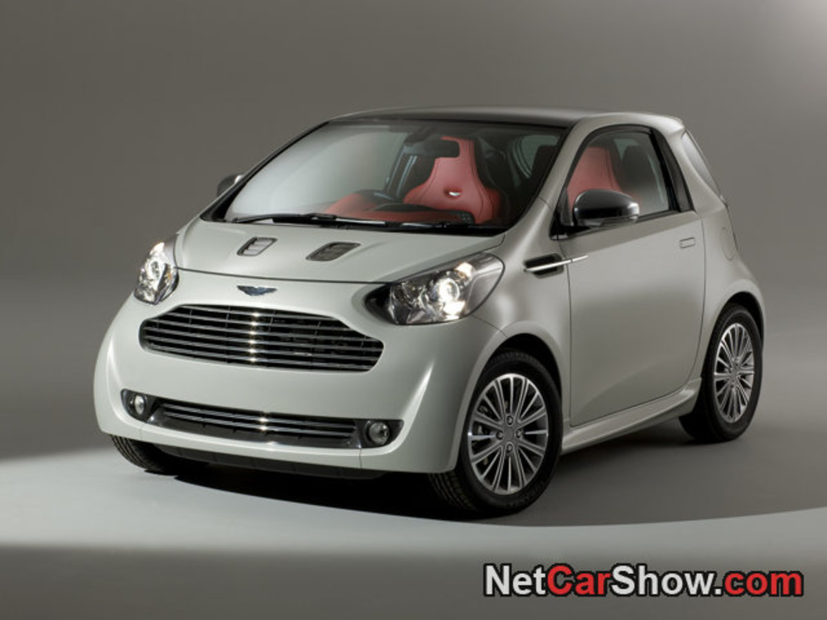 Aston Martin Cygnet, a rebadged Toyota microcar at exorbitant prices