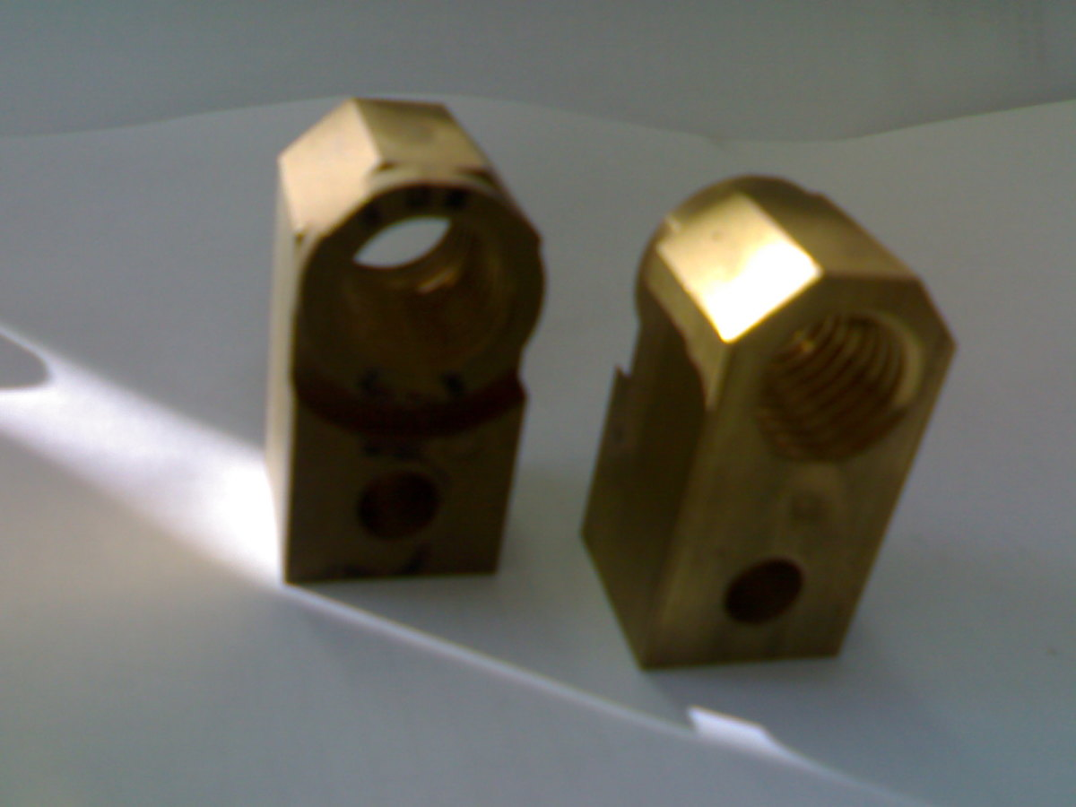 The FMC feed nut, from both sides