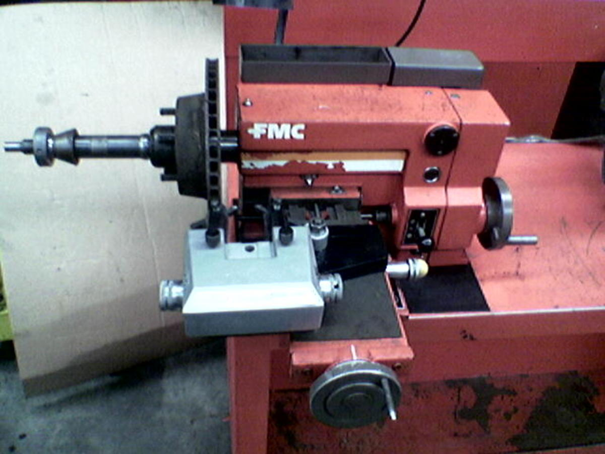 An early model FMC 600 before reconditioning. This rough old machine was still accurate enough to do your Ferrari discs on BEFORE it was rebuilt.