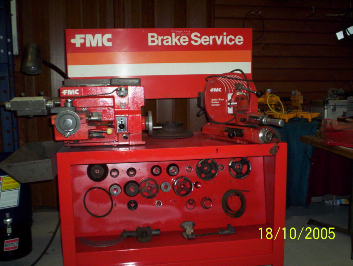 workshop machinery-automotive equipment. FMC John Bean new and used Brake Lathes