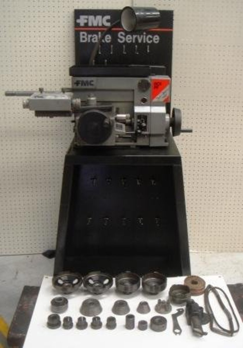 Used FMC John Bean special brake lathe