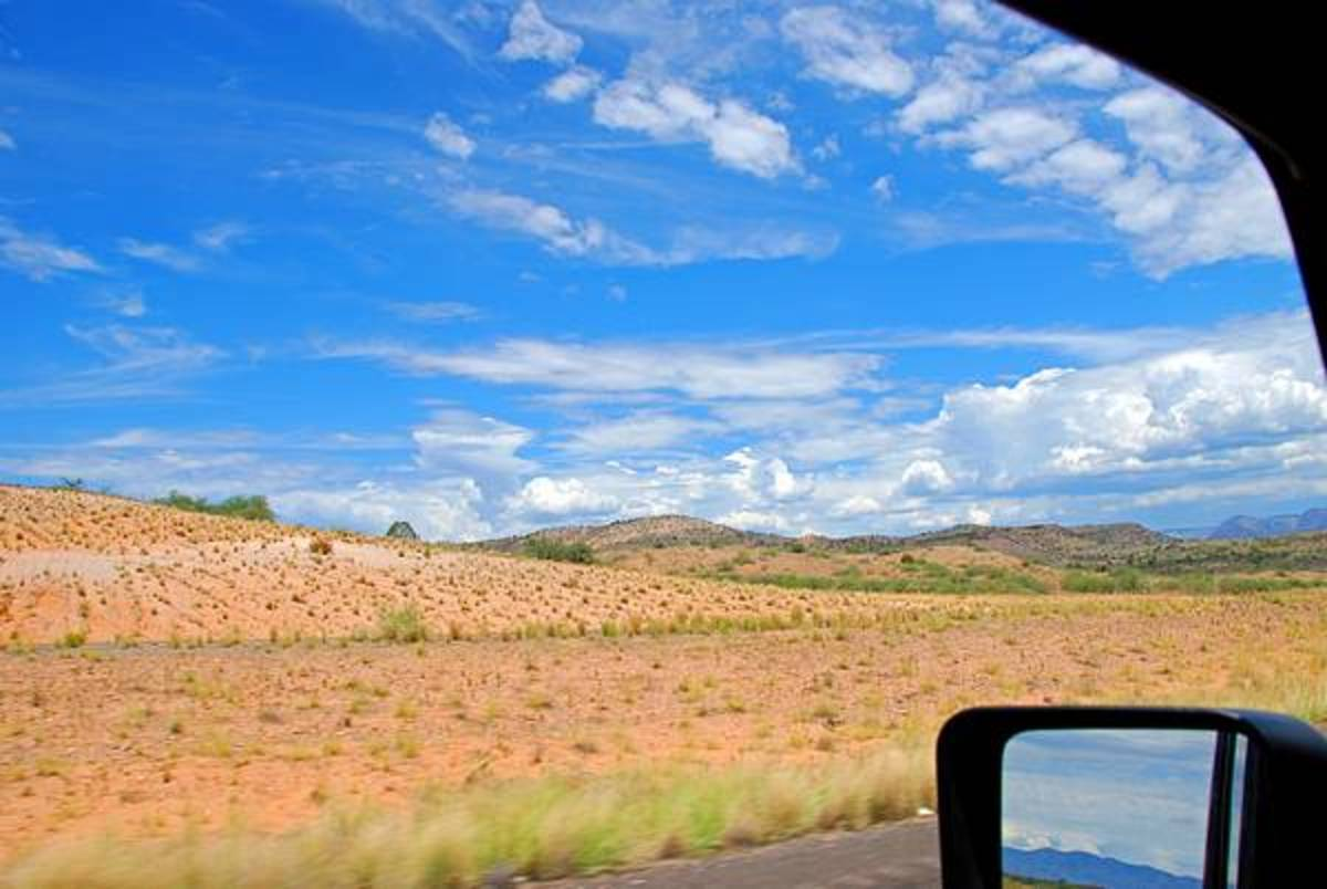Looking out the Jeep Window in Valley Verde, AZ