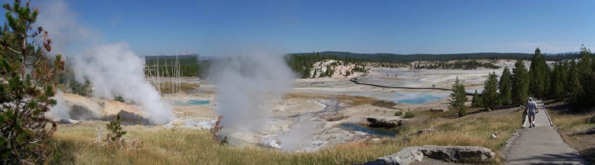 Mudpots at Yellowstone National Park