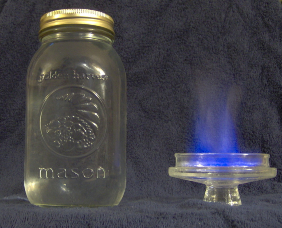 Many thought that if moonshine burned with a blue flame, it was safe. Sadly this isn't true and many were blinded, crippled or killed by the lead contamination often found in the innocent looking mason jars.