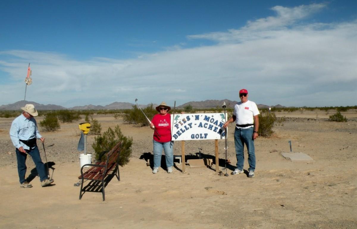Desert Golf at Quartzsite.
