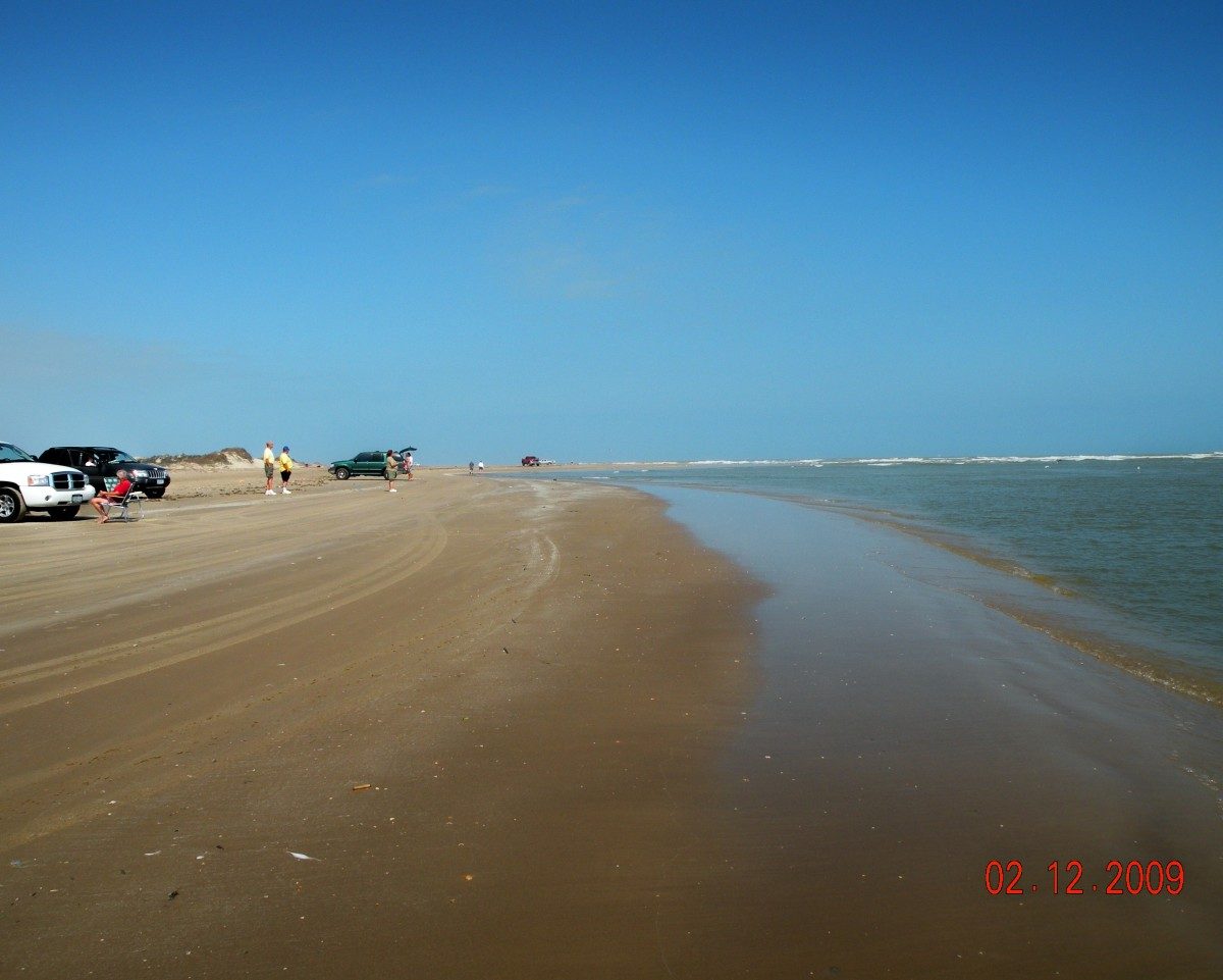 Free beach access at Boca Chica on South Padre Island, Texas.