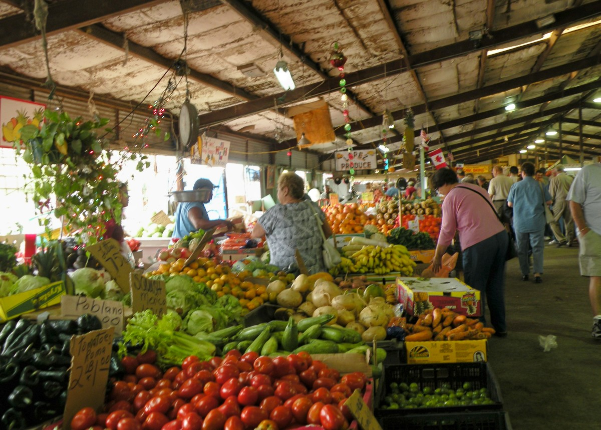 Donna Farmer Market in the Rio Grande Valley.