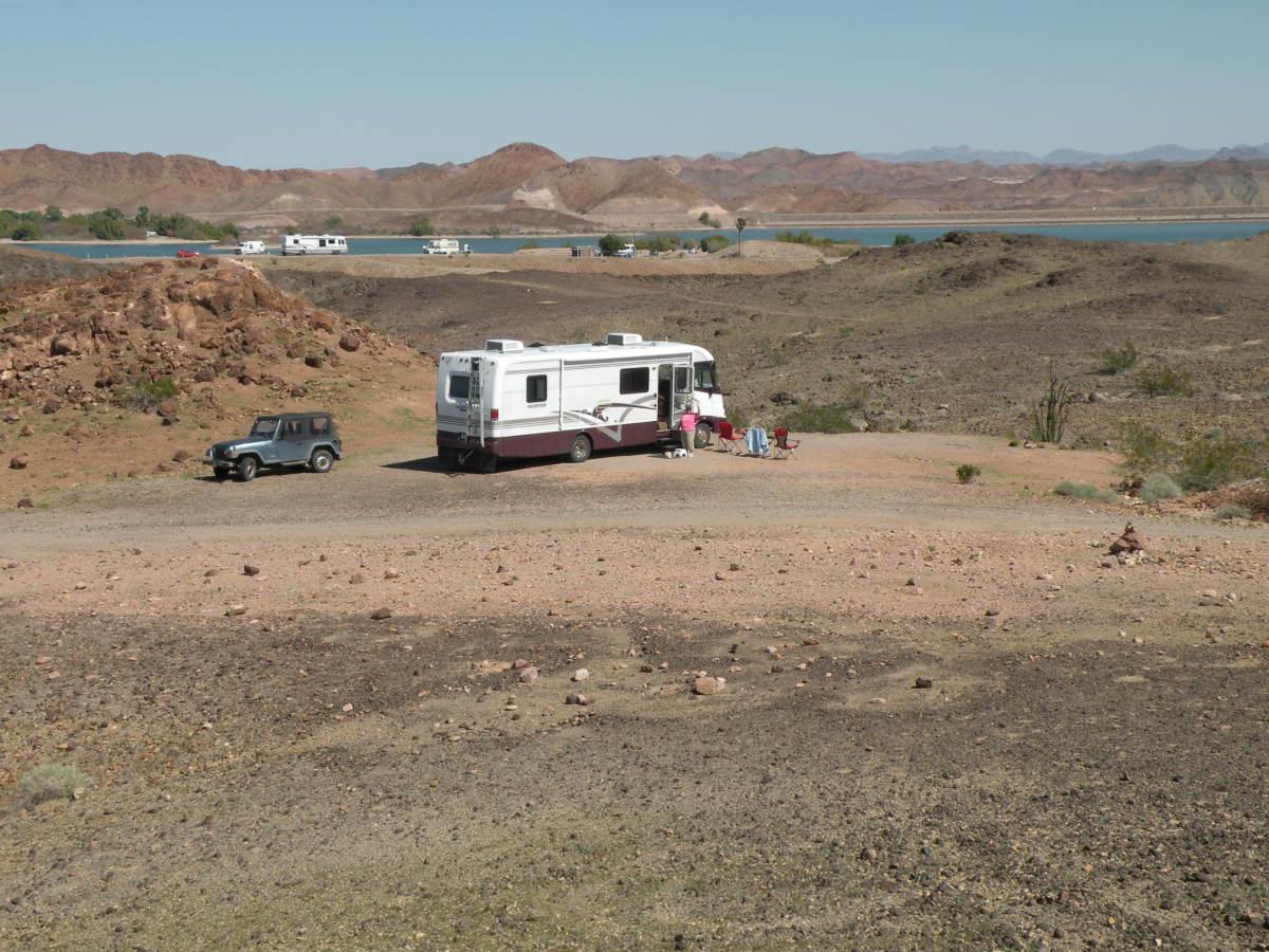 Camping at Imperial Dam LTVA.