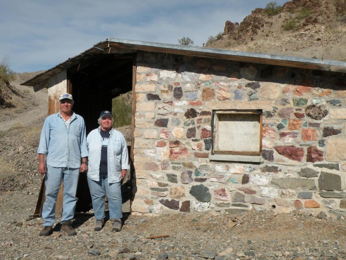 Miner's camp in the hills near Quartzsite, Arizona.