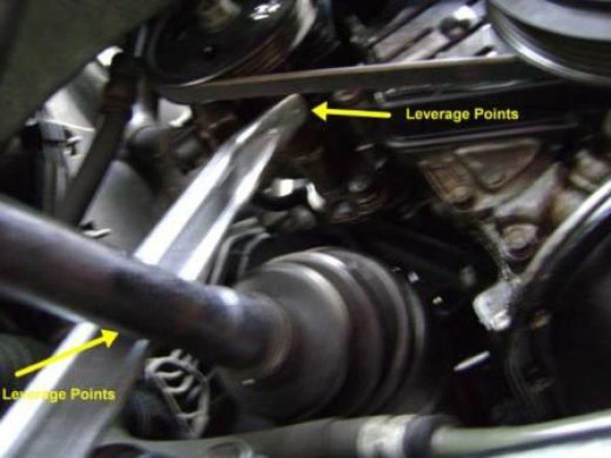 EE. Apply tension to the power steering belt