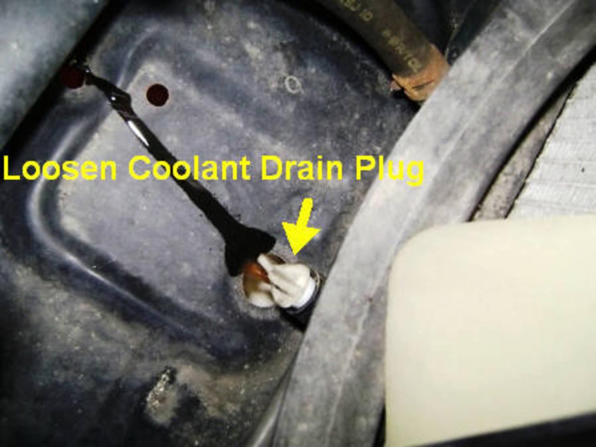 C.  Drain plug removal