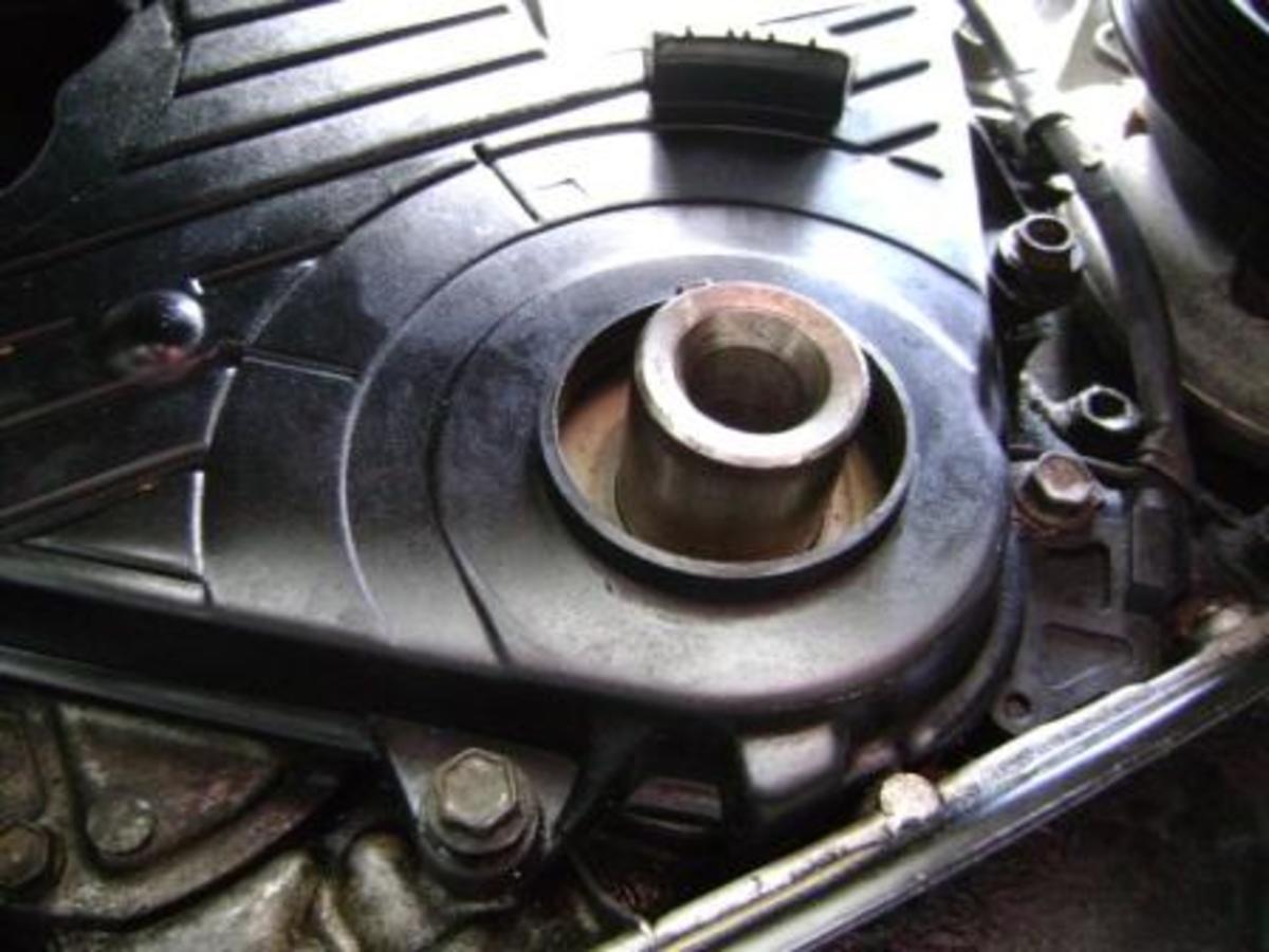 Q. crankshaft pulley removed