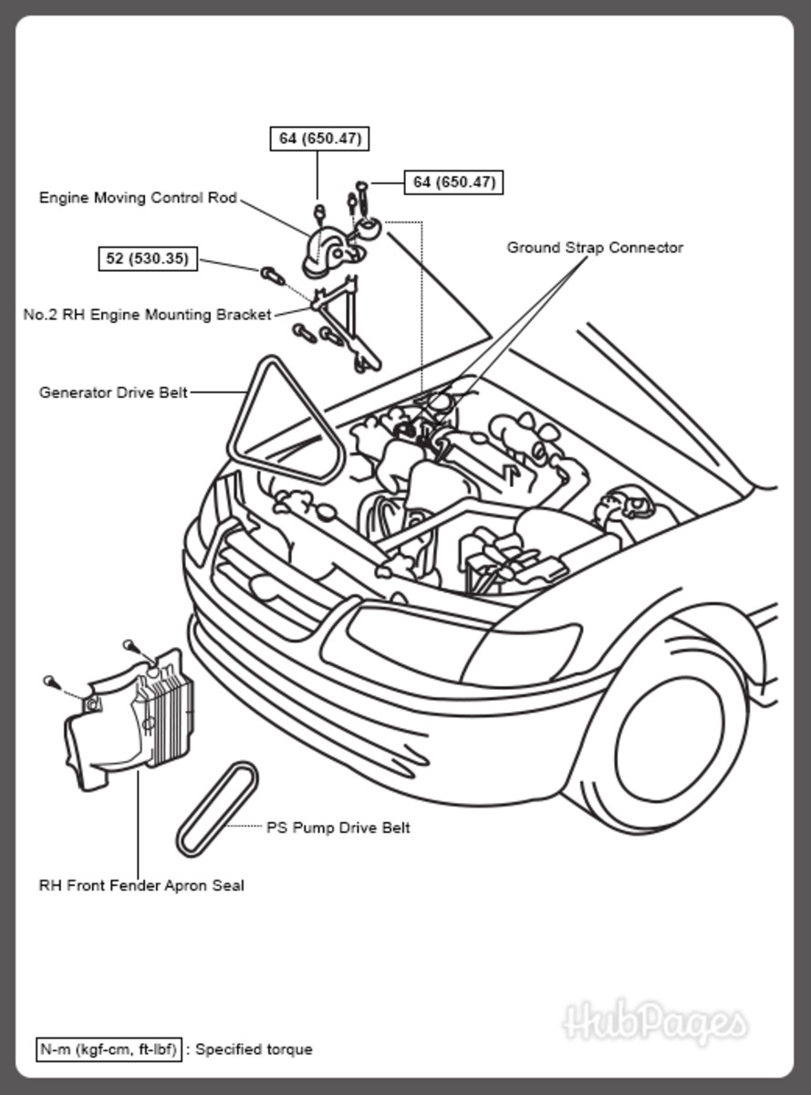 2007 toyota 4runner belt diagram