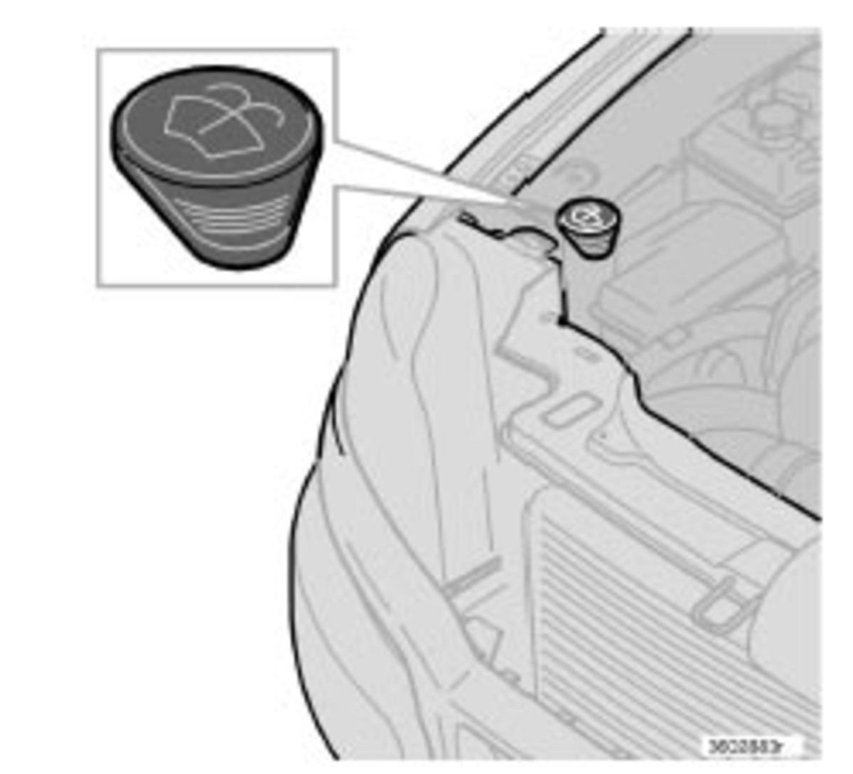 The above picture is the icon for windshield wiper fluid.  Don't pour radiator stop leak in here or you might have a big problem.