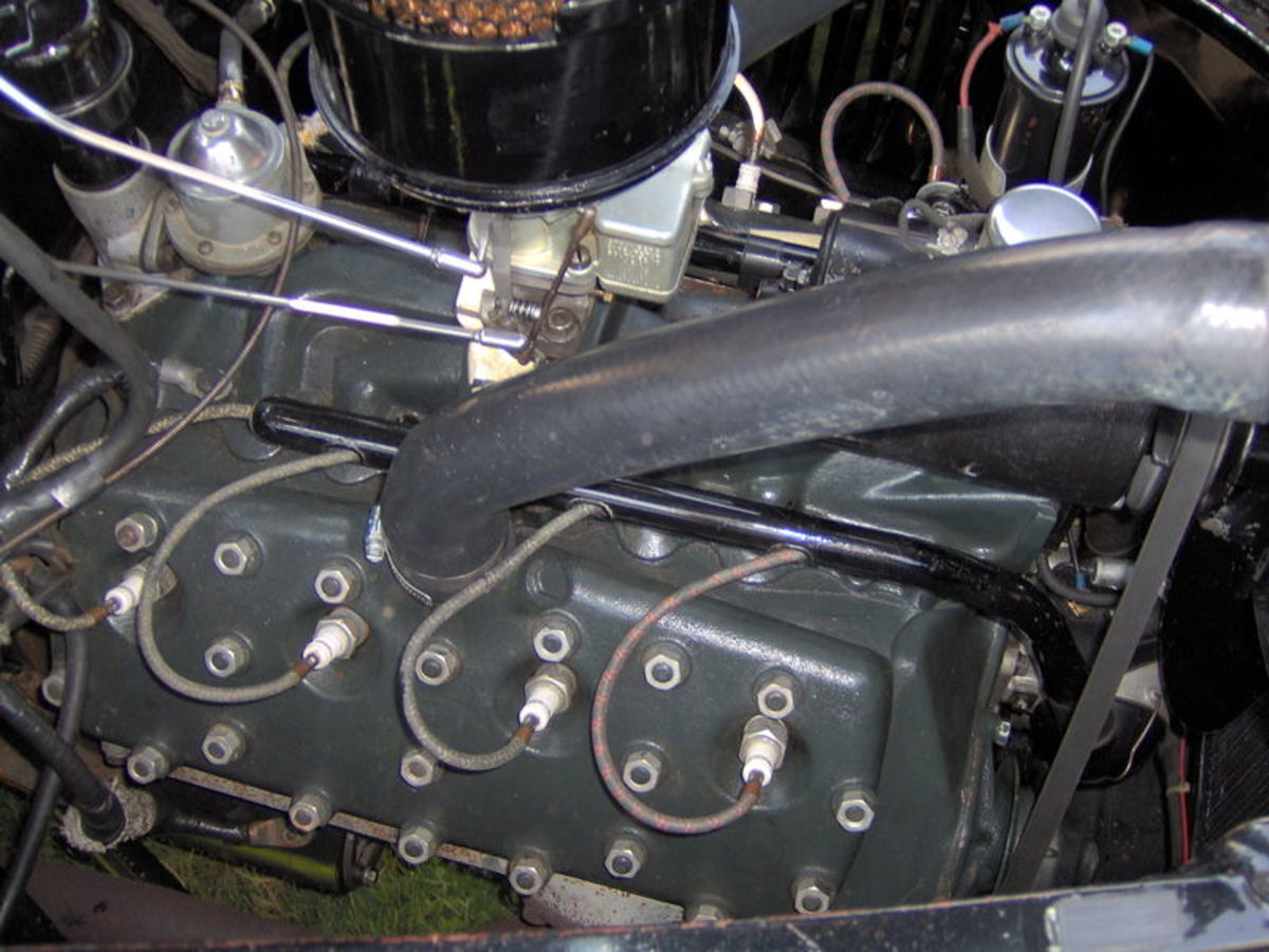 Ford Flathead V-8 was produced from 1932 to 1953 in the U.S. The 1952 U.S. version had 110 hp.  In Germany it was used up to 1973 in some commercial vehicles.