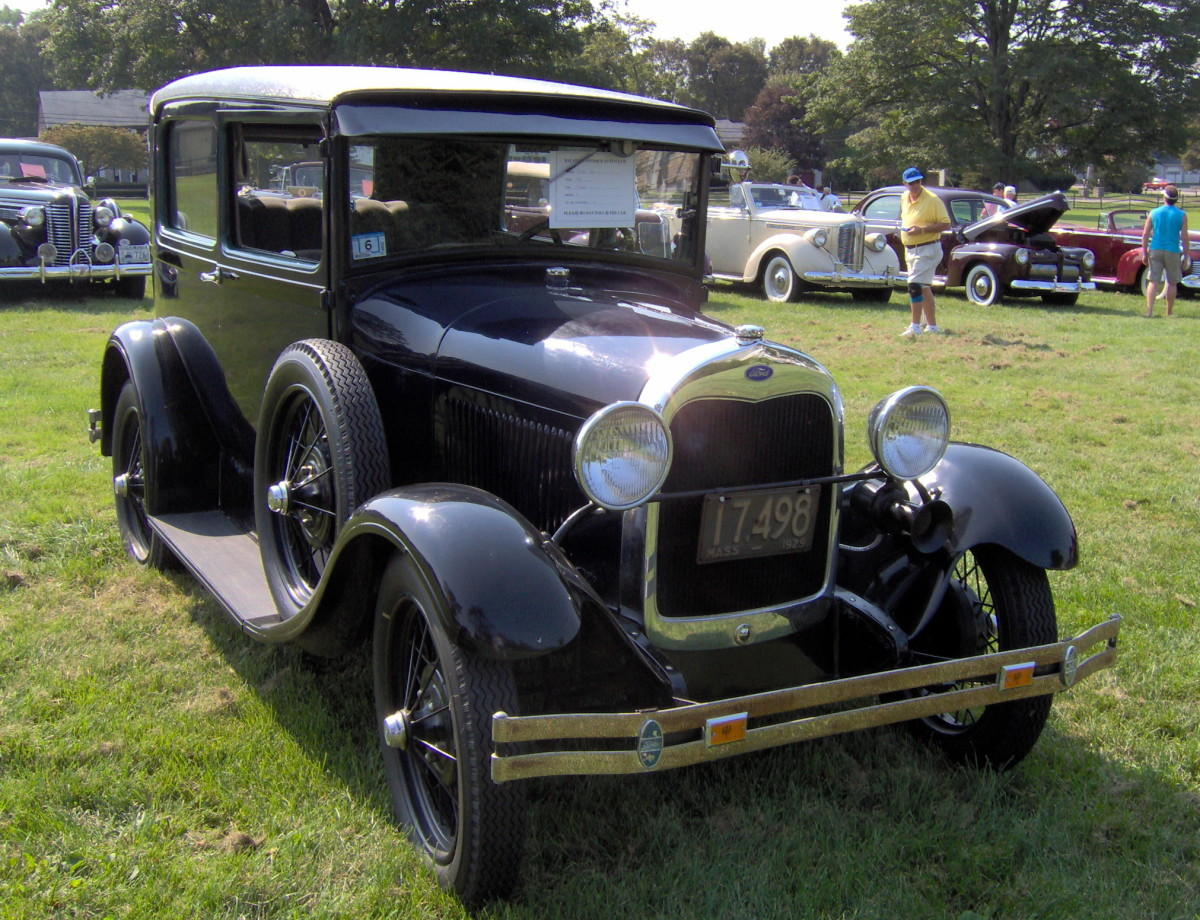 Customers Loved the Model A's low price and style. There weren't many frills, but an aftermarket heater and many other options could be purchased. A Model A Tudor Sedan sold for $495.00. This is a 1929 model.
