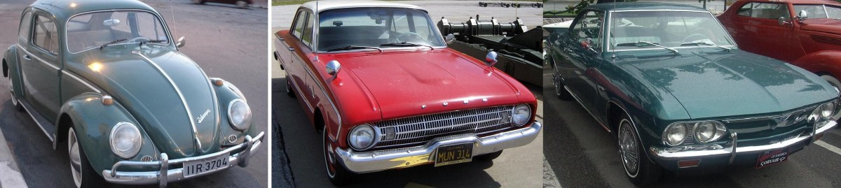 The VW sparked a war for the small car market. GM and Ford's first offerings, the Corvair and Falcon  were succeeded by many other junior-sized models as they battled for supremacy in the '60s and '70s.