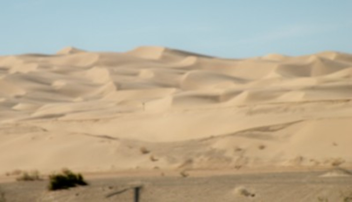 Imperial Sand Dunes in Southern California attract many ATV enthusiasts who camp at the foot of the dunes or in the nearby BLM areas.