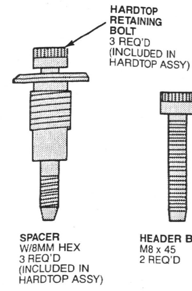 Hardtop bolts needed