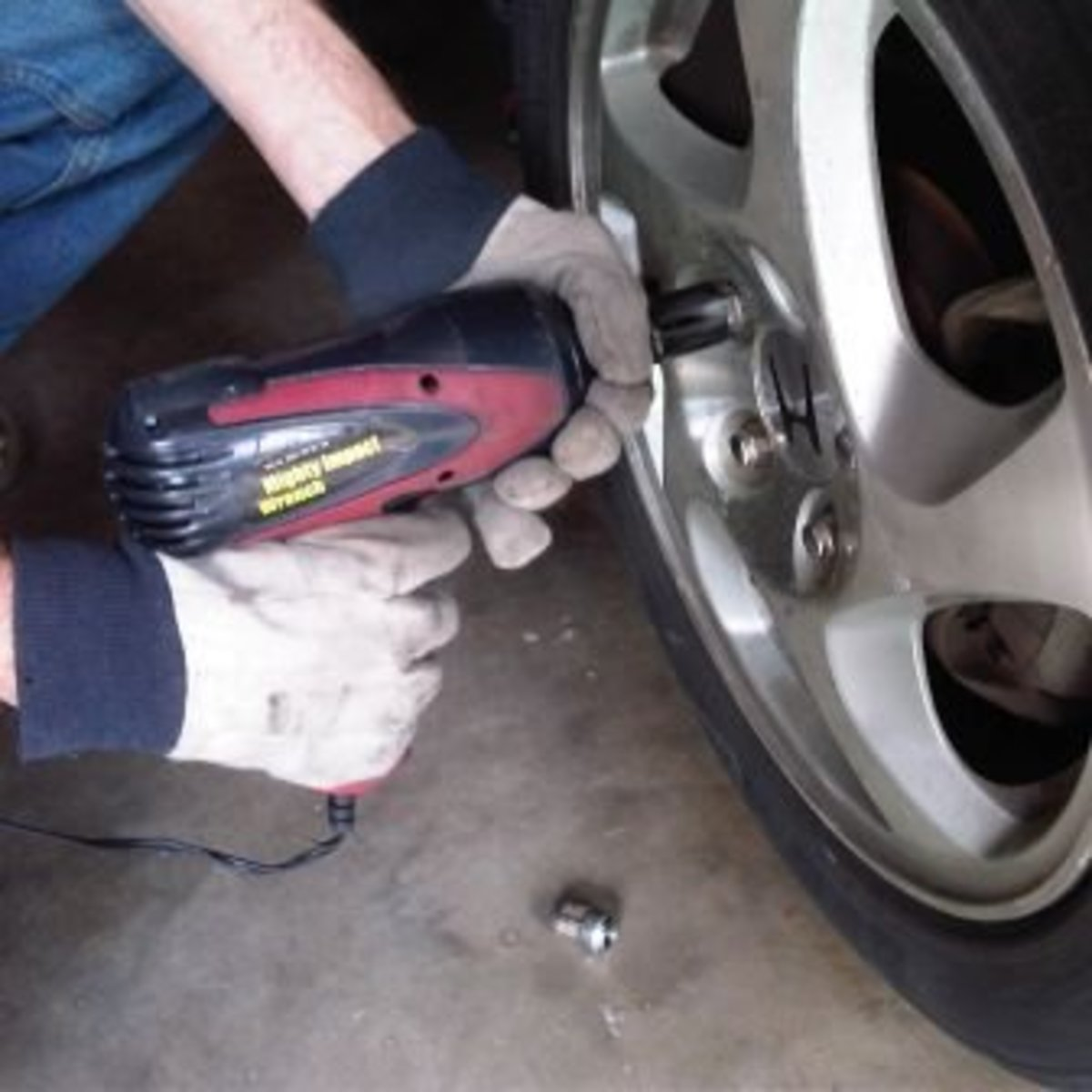Stuck lug nuts are easy work for this Wagan impact wrench that plugs into a 12-volt car power outlet.