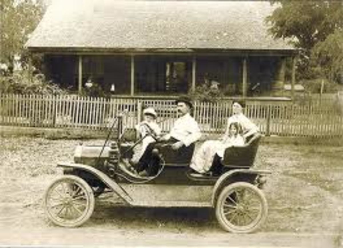 A Family Driving a Model T