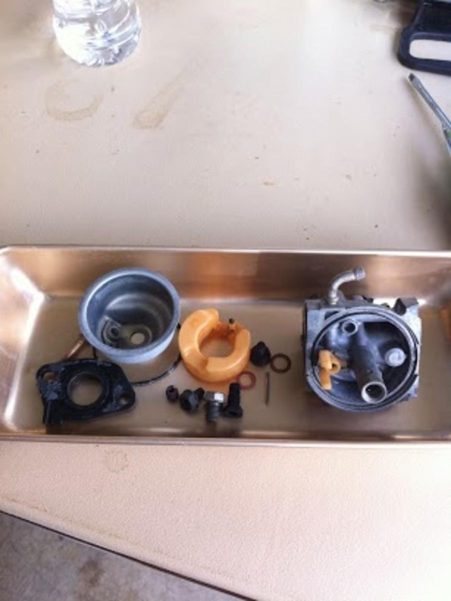 Carburetor after boiling in lemon juice