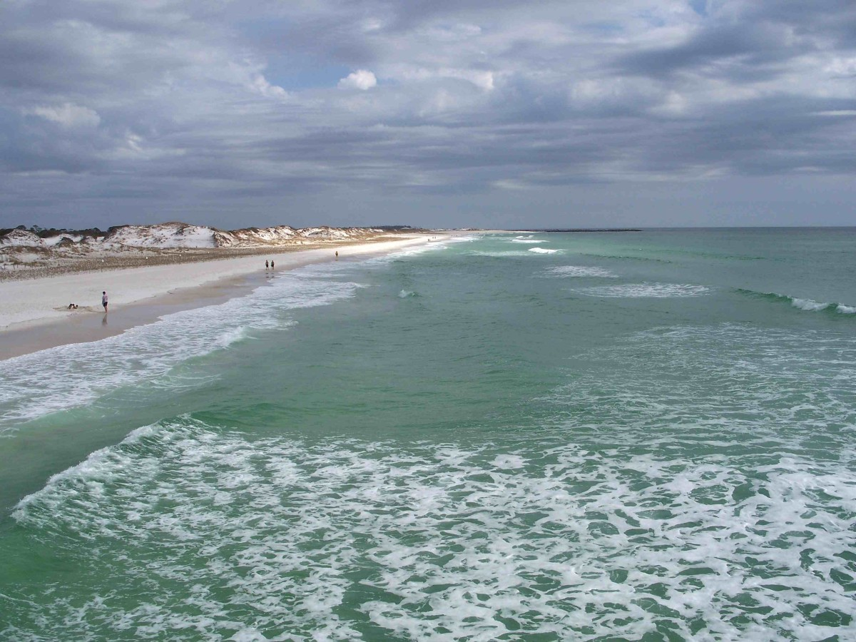 St. George Island State Park on the Gulf of Mexico. Florida Panhandle