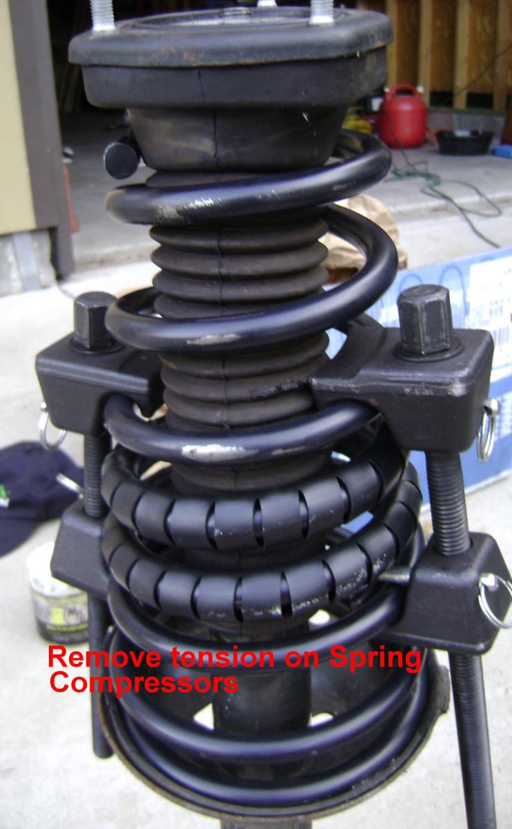 Camry strut mount installed on new strut springs