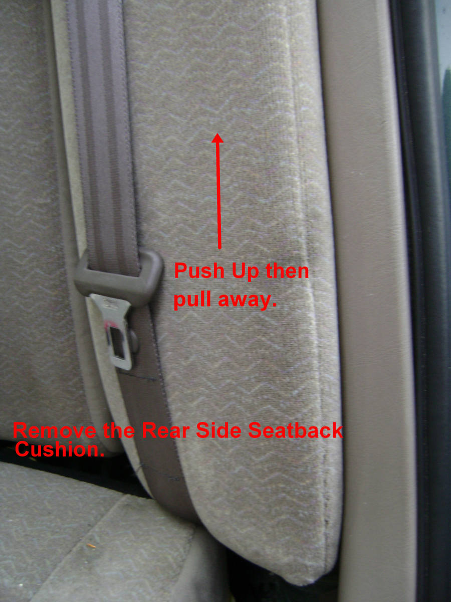 Rear side seatback removal