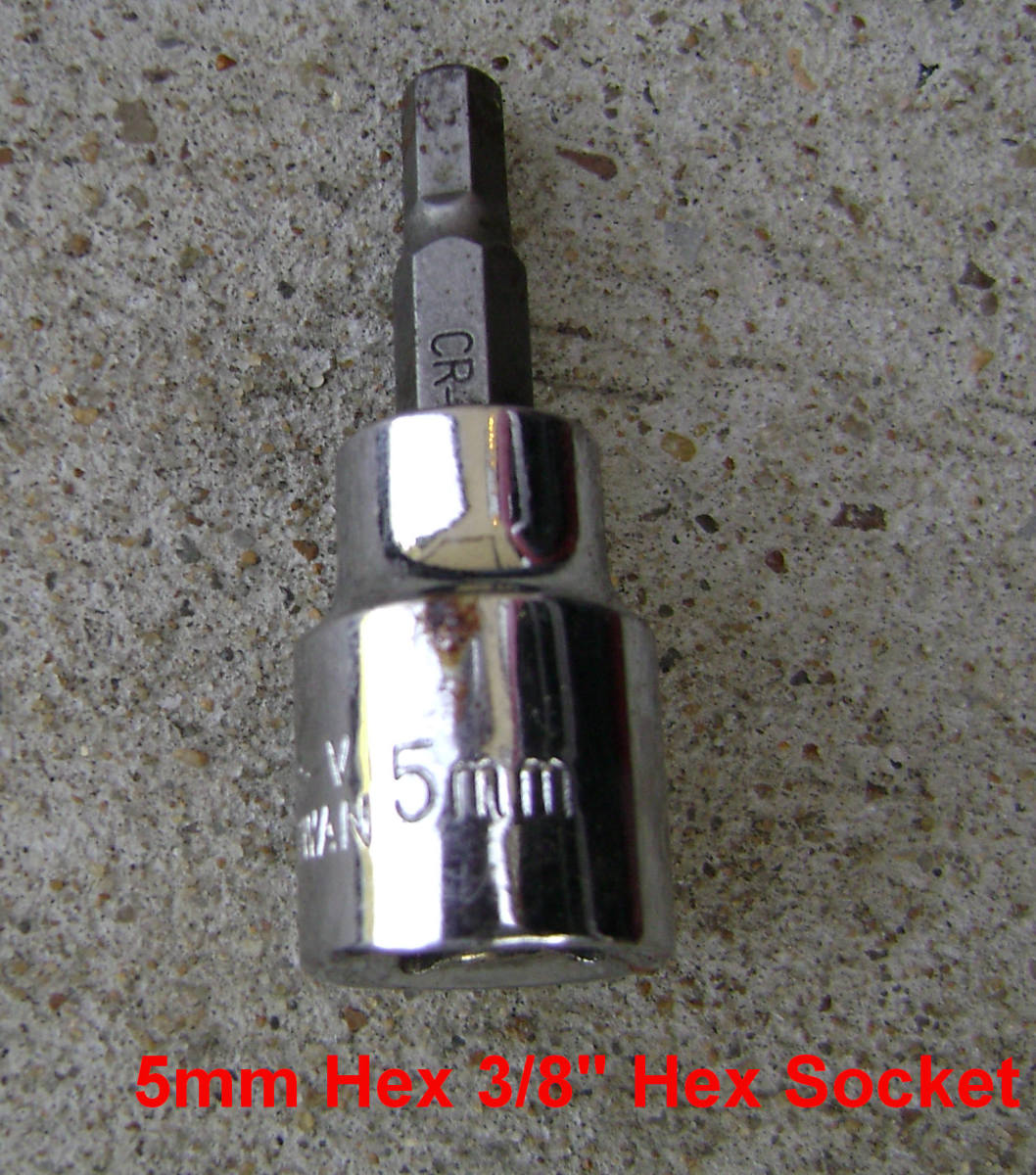 5mm hex bolt for sway bar link removal