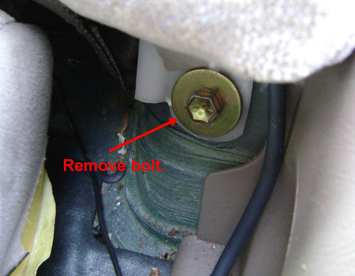 Rear side seatback bolt location
