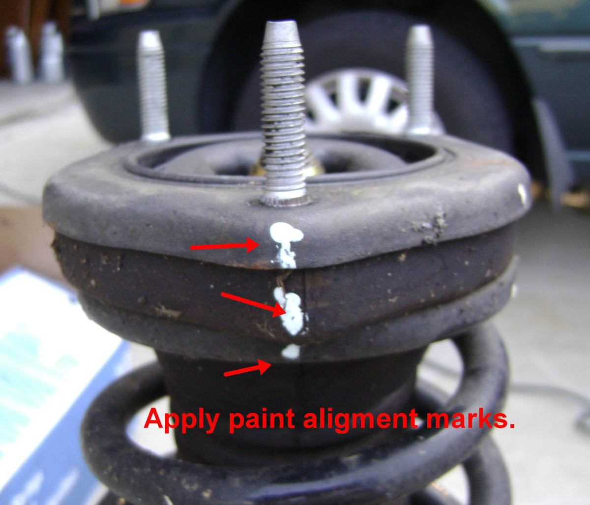 Replacing The Rear Strut And Or Coil Spring On A Toyota