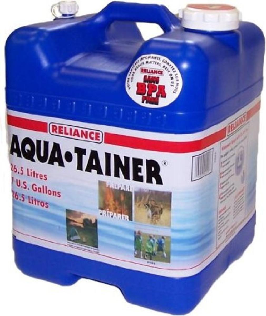 7-Gallon Rigid Water Container