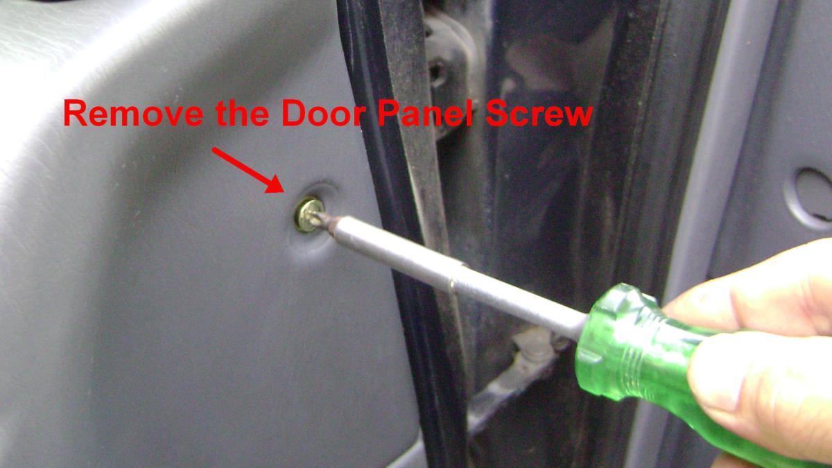 f(2). Remove the panel screw.