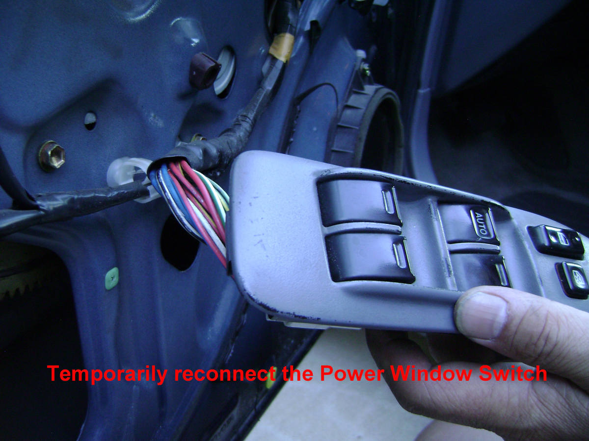a. Temporarily connect the power window switch.