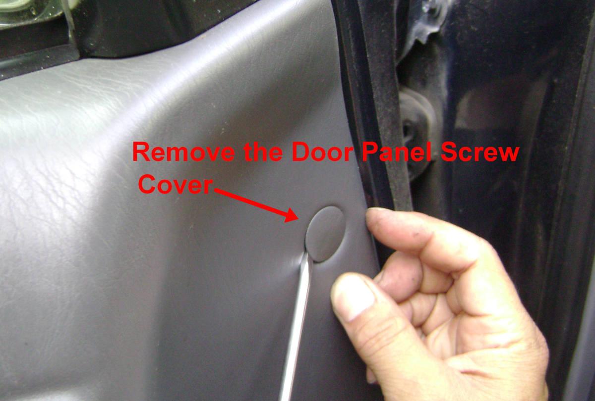 f. Remove the panel screw cover.